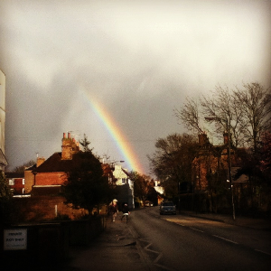 A rainbow in Canterbury
