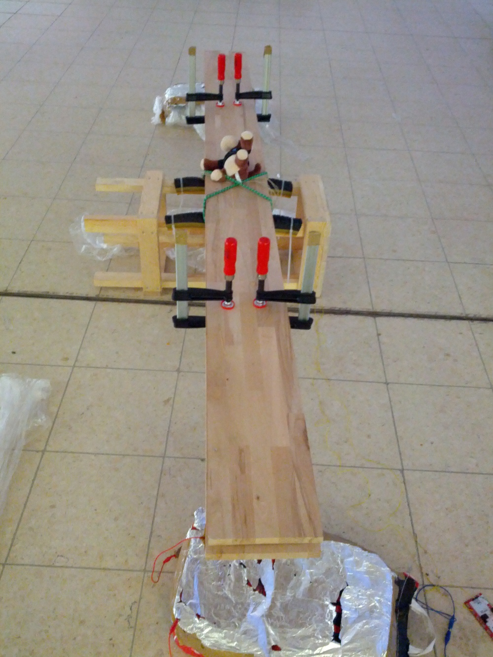 Musical teeter totter connected to makey makey