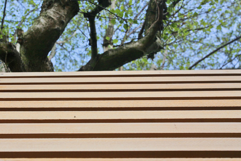 Western Red Cedar Trellis  |  for further information see  Full Modernisation of 1970's Dwelling, Woodbridge