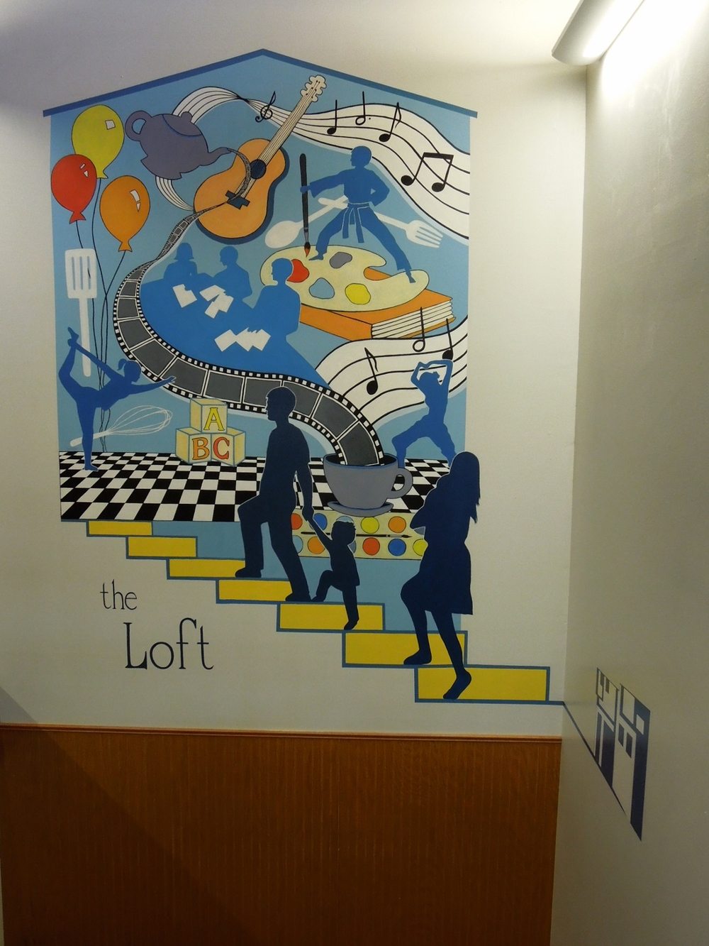 CSCC loft mural, Minneapolis, MN, 2013