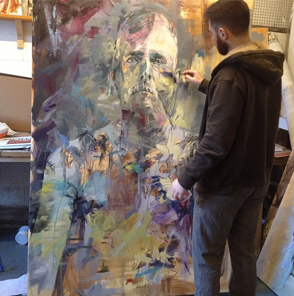 Currently on the easel. An army defector who was tarred and feathered ! More coming soon.