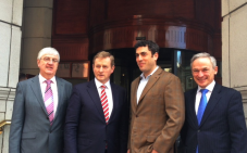 Barry O'Dowd, Head of Emerging Business, IDA, Taoiseach Enda Kenny, TD, Jesse Hertzberg, COO of Squarespace, Richard Bruton, TD, Minister for Jobs, Enterprise and Innovation