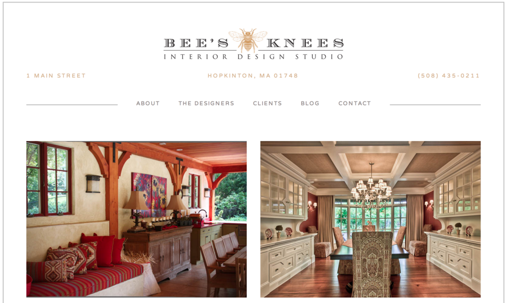 bee's knees interior design website on squarespace 6.png