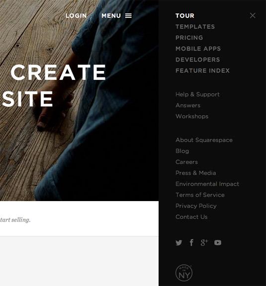 10 brilliantly innovative website menu designs – Squarespace