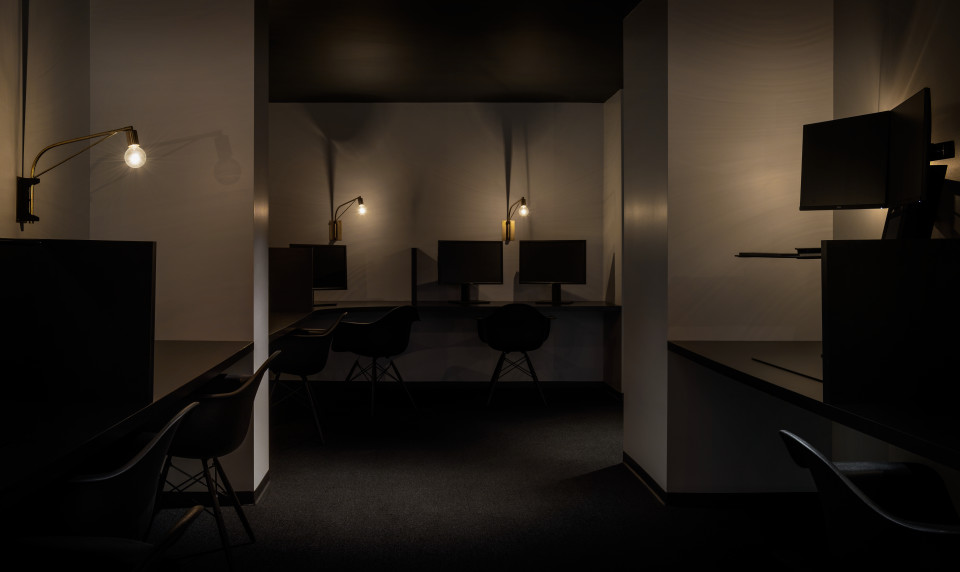 Squarespace employees can get their zen on in the quiet room, which is purposefully dimly lit in order to facilitate distraction-free focus.
