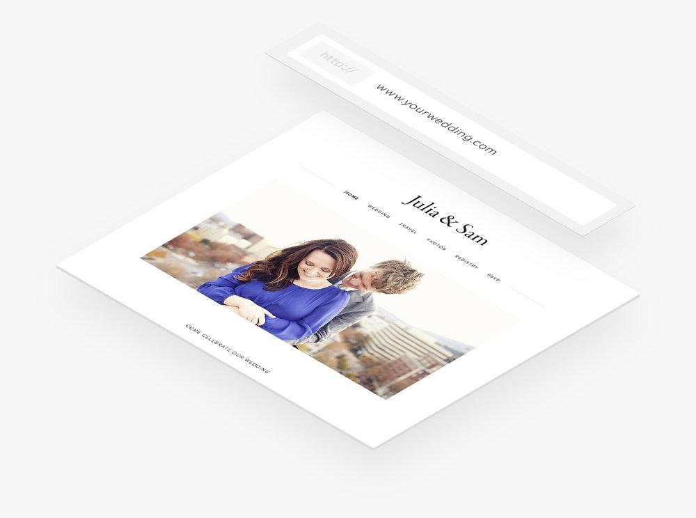 Dominios personalizados de Squarespace para páginas web de bodas