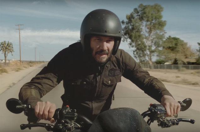 Keanu Reeves in a Super Bowl commercial for Squarespace.