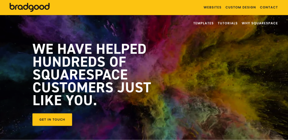 Brad Good uses motion and color on their homepage to surprise and delight site visitors.