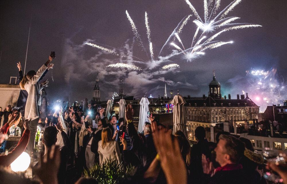 Soho House Amsterdam na véspera de Ano-Novo em 2018.
