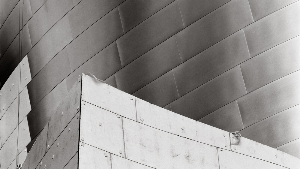 Disney Hall Construction, Los Angeles, 2001