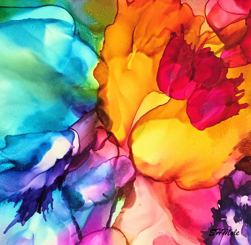 FLOWER POWER     Alcohol Ink Painting