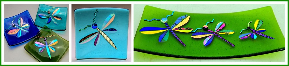 DRAGONFLY PLATTERS  (Triple Image Platters are Custom Orders)