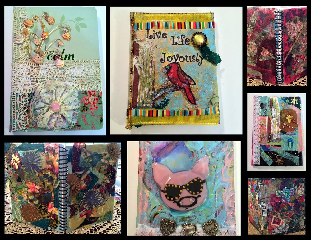 Suz Mixed Media Book Collage