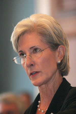 Kathleen Sebelius, then Governor of Kansas, speaking at a 2007 congressional hearing organized by the National Rural Assembly.