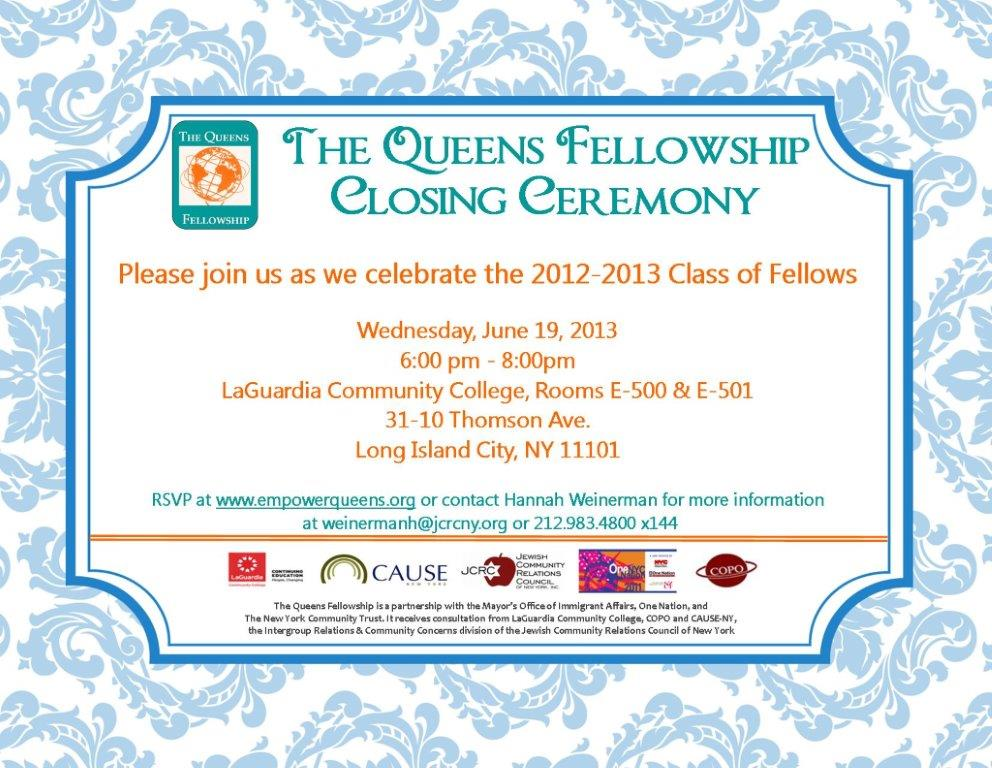 Friends, family members, and colleagues celebrated with our first class of The Queens Fellowship and acknowledged their achievements throughout the program year.