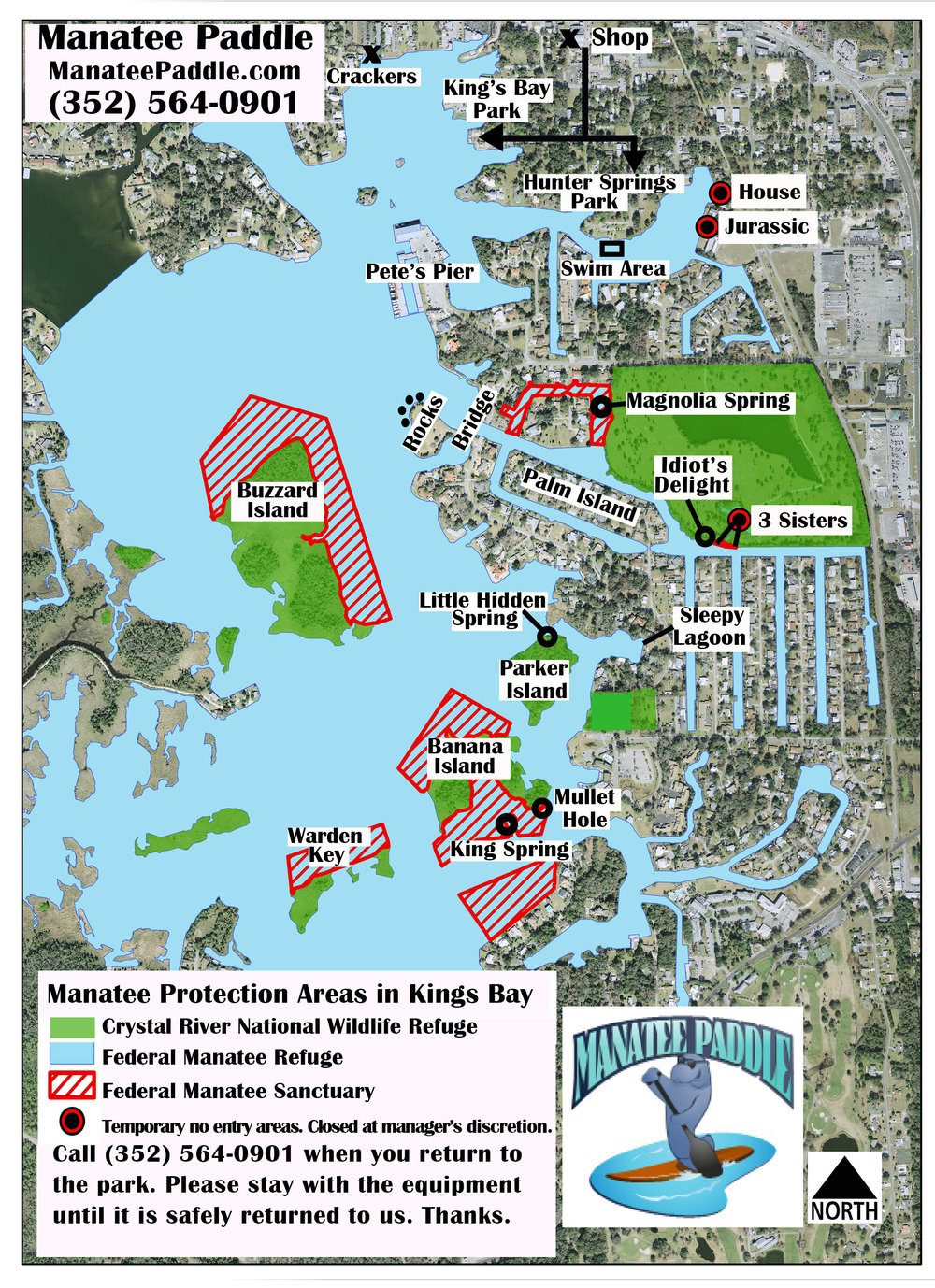 Map Of Florida Bays.King S Bay Map Paddleboard Kayak And Swim With A Manatee In