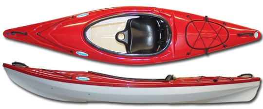 "Sit-In Kayak - 10' Long, 28 3/4"" Wide, 275   lb Capacity"