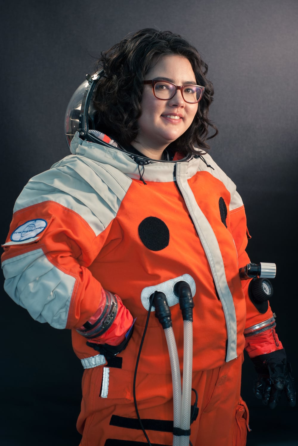 Portrait of Kari Love, Chief Pattern Maker and Fabricator for Final Frontier Design