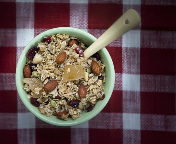 ginger almond granola recipe