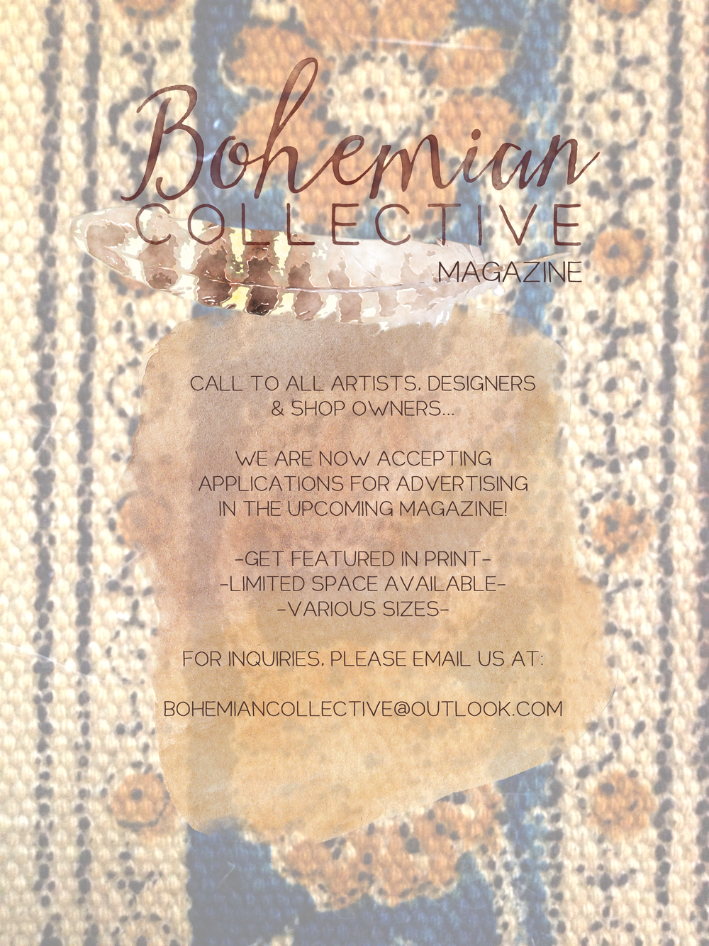 Get Featured in The Bohemian Collective Magazine