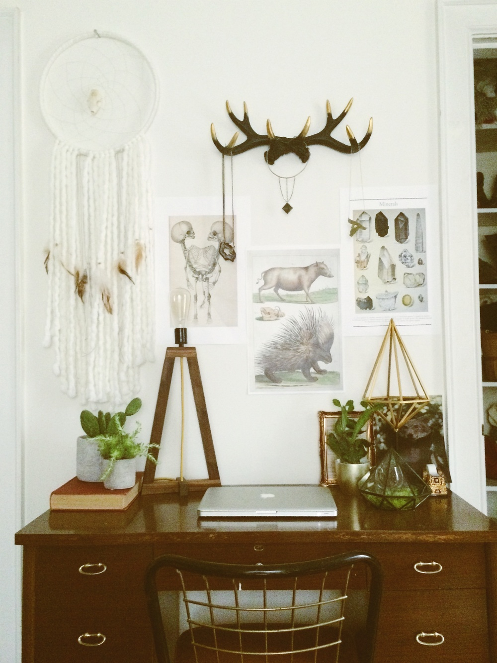 Workspace of Leah Hoffman via bohocollective.com
