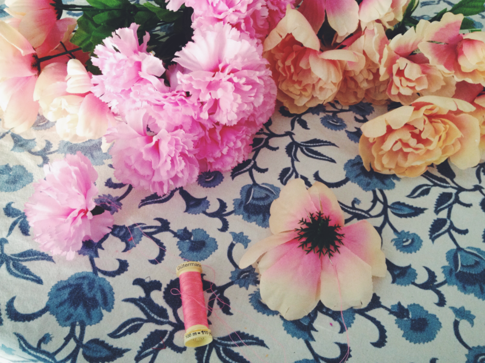 Flower Garland DIY by Stephanie Perkinson for the Boho collective