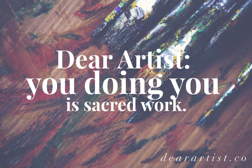 Dear Artist by Hillary Rain