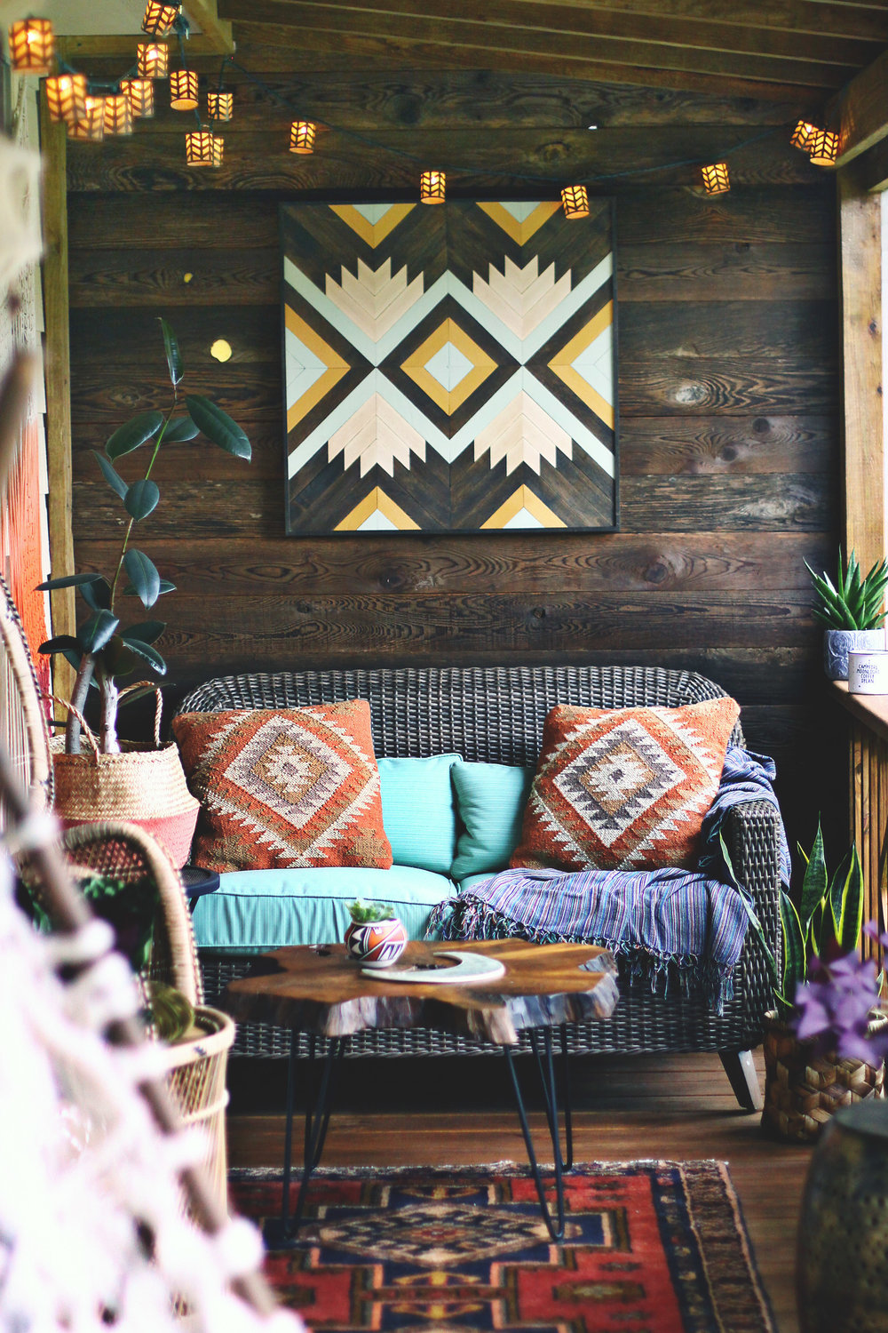 The Boho Porch Makeover at bohocollective.com