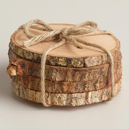 Wood Bark Coasters