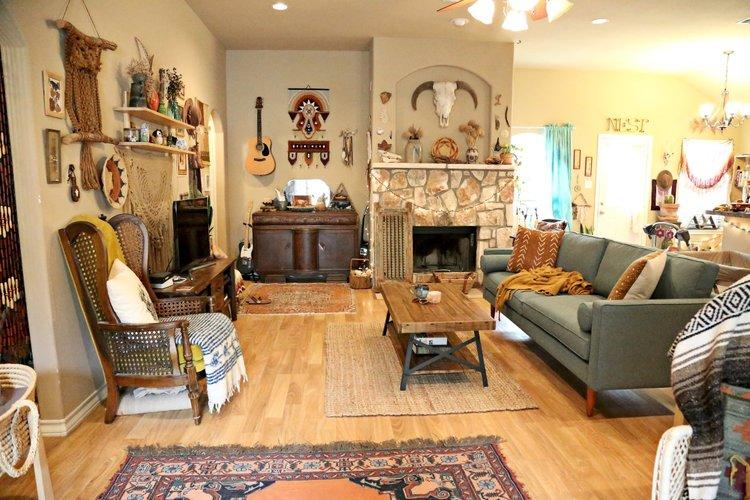 Laura\'s Earthy Bohemian Living Room — Welcome, boho babes...