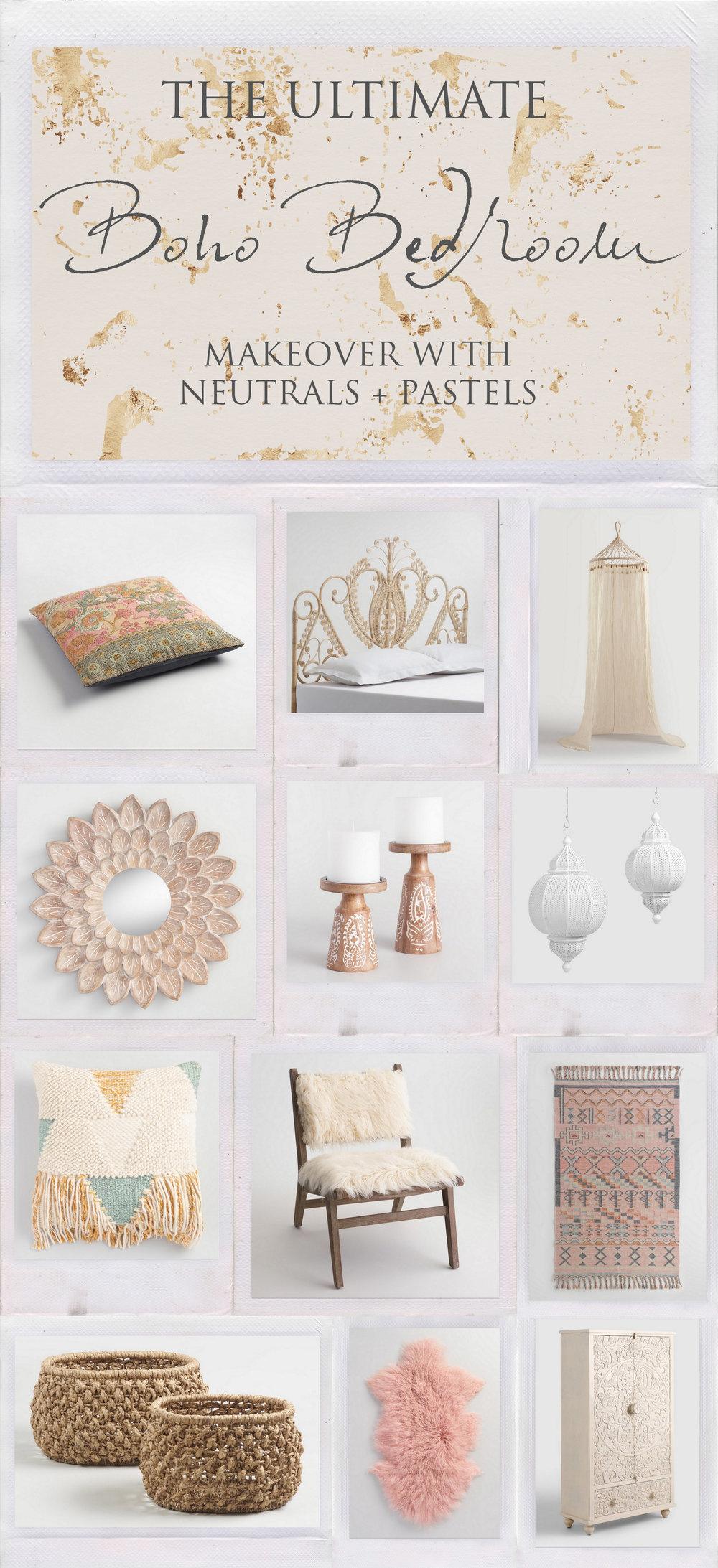 The Ultimate Boho Bedroom Makeover with Neutrals Pastels