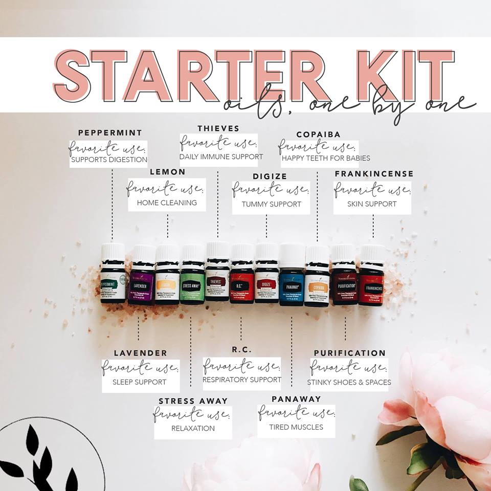 Young Living Starter Kit essential oil uses
