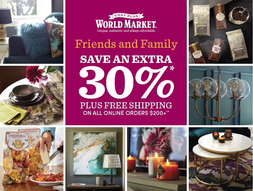 Friends + Family Event at Cost Plus World Market
