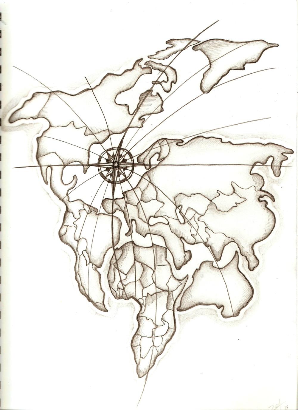 чем эскизы тату рисунки политической карты мира фото подвал