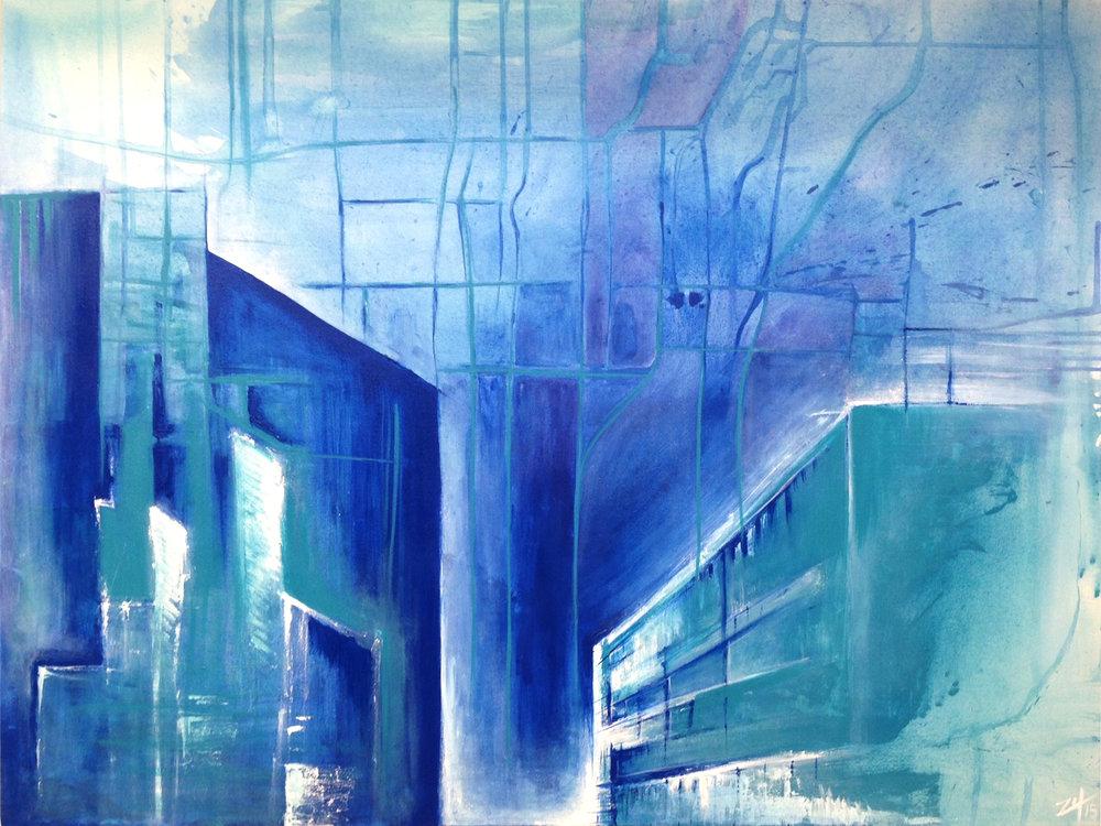 """""""Downtown"""". 3'x4'"""