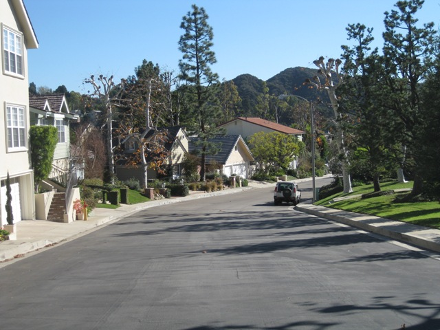 A view down Wallingford Drive.