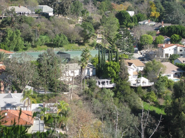 Benedict Hills Estates from Benedict Canyon Drive.