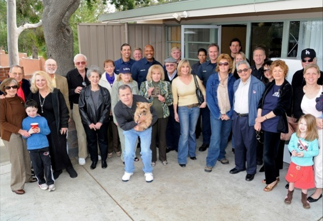 Benedict Canyon Association board members and residents honor the late  Gordon Smith by dedicating Fire Station 99's new picnic table in his  name.  Gordon was a tireless volunteer for the BCA and major supporter  of our local fire station.  He is greatly missed.