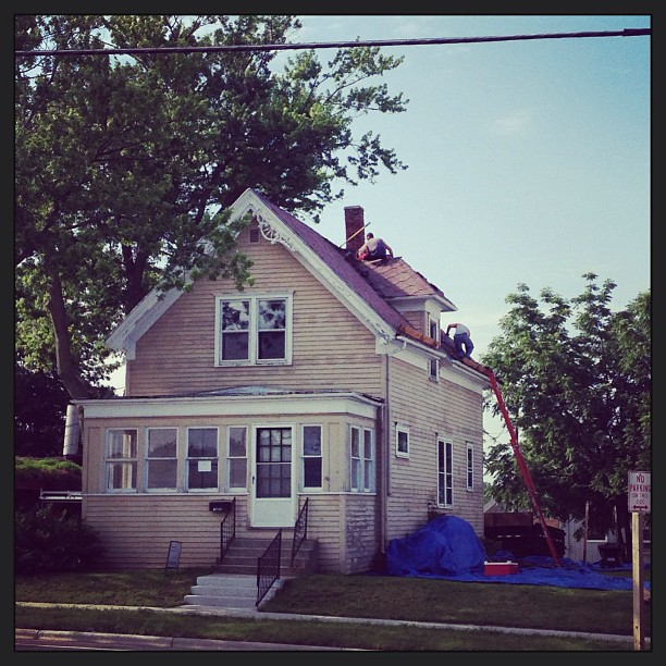 New roof for #Marigold ! #remodel