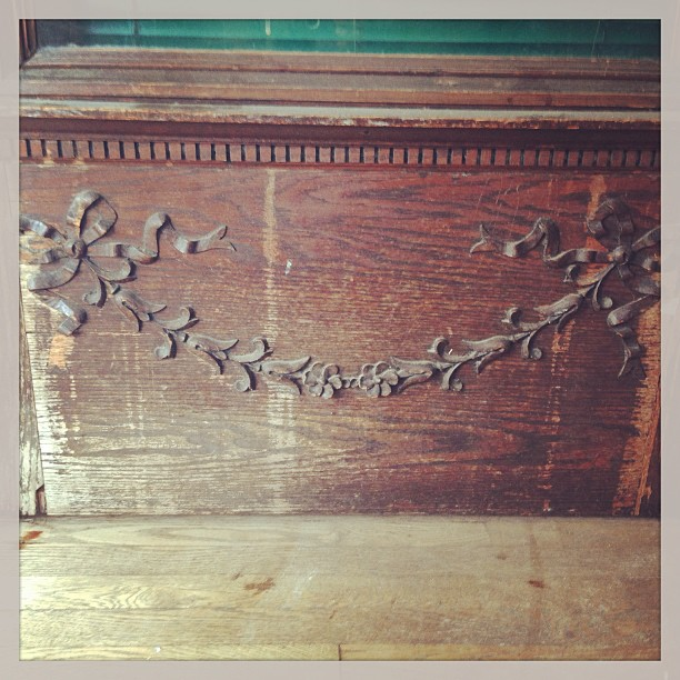 Some details are remarkably indestructible #oldhomes #ornament #remodel