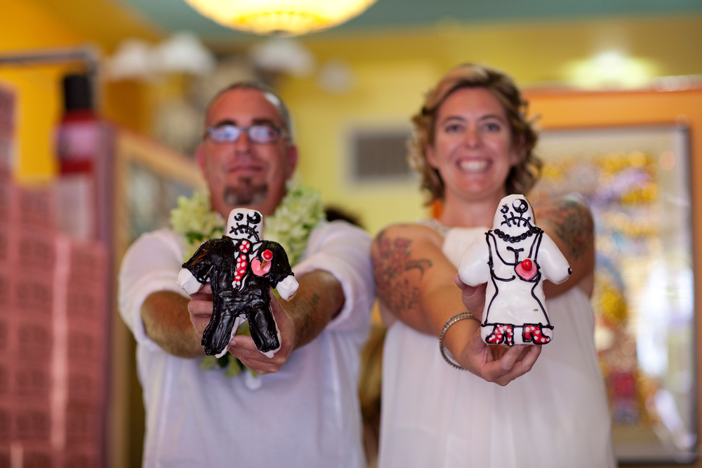 One of the happiest days of my life. Our Voodoo wedding @ Voodoo Doughnut's Tres in Eugene, OR