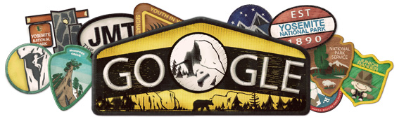 Image courtesy of Google - The Google Doodle for today, 10.1.2013 - Yosemite's 123rd Birthday today.