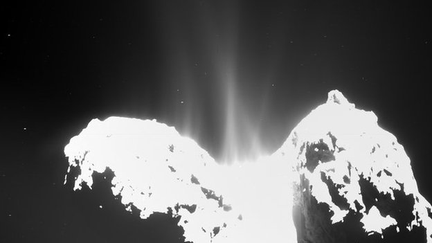 The Rosina instrument analyses the gases which stream off the surface of Comet 67P