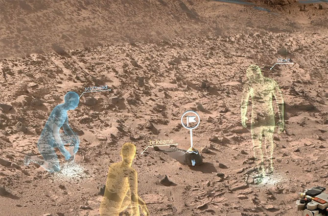 New NASA software called OnSight will use holographic computing to overlay visual information and data from the agency's Mars Curiosity Rover into the user's field of view. Holographic computing blends a view of the physical world with computer-generated imagery to create a hybrid of real and virtual.NASA/JPL-CALTECH