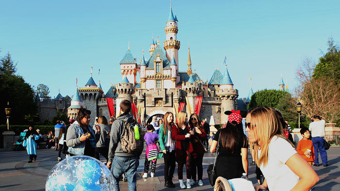 It's likely that a person with measles visited Disneyland in Anaheim between Dec. 17 and 20, exposing others to the virus, health officials have said. Above, the park in January. (Christina House / For The Times)