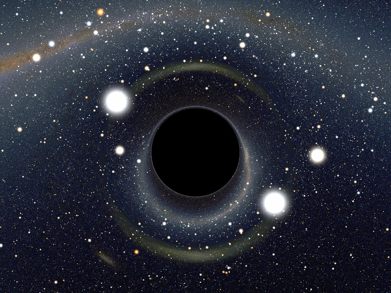 Some physicists are pushing back against ideas like string theory and the multiverse. Here, we see a computer-generated image of a black hole, which might, ultimately, be explained by ideas like string theory.lain Riazuelo/IAP/UPMC/CNRS