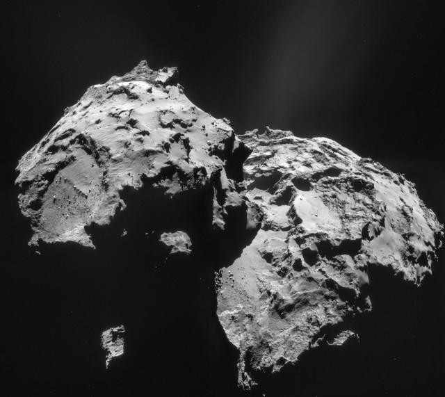Mosaic of comet 67P/Churyumov-Gerasimenko, made from four images taken by the Rosetta spacecraft. ESA/Rosetta/NAVCAM