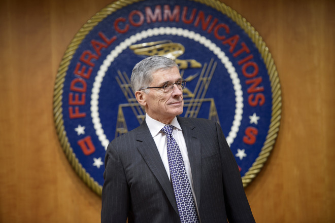 Federal Communication Commission(FCC) Chairman Tom Wheeler waits for a hearing at the FCC December 11, 2014 in Washington, DC.    Brendan Smialowski/AFP/Getty Images