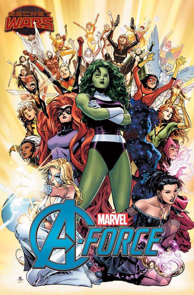 Dazzler! Spider-Gwen! Wasp! Hellcat! Jubilee! Oh my.