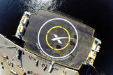 """SpaceX's autonomous spaceport drone ship, called """"Just Read the Instructions,"""" is designed to be an offshore landing pad for the company's Falcon 9 rocket. The drone ship is named after the sentient colony ship from the novels of science fiction author Iain M. Banks.   Credit: SpaceX via Elon Musk, Twitter"""